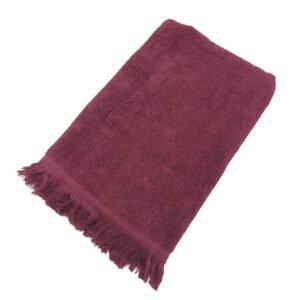 купить Махровое полотенце UzTex Home 500 бахрома 70*140 Бордовый Бордовый фото