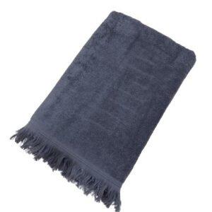 купить Махровое полотенце UzTex Home 500 бахрома 70*140 Серый Серый фото