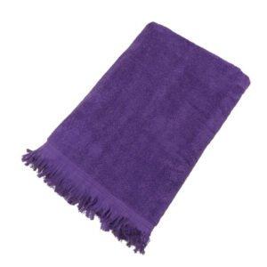 купить Махровое полотенце UzTex Home 500 бахрома 70*140 Сиреневый Сиреневый фото
