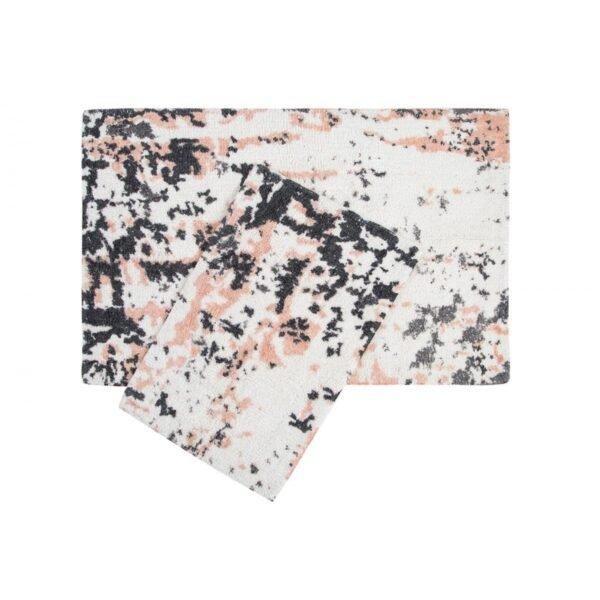 купить Набор ковриков Irya - Calist salmon розово-серый Розовый Серый фото
