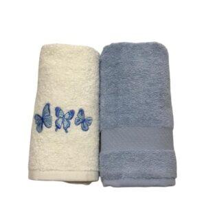купить Набор кухонных полотенец Casabel 40*60 2 шт Голубой Голубой фото