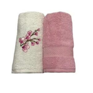 купить Набор кухонных полотенец Casabel 40*60 2 шт Розовый Розовый фото