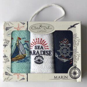 купить Набор кухонных полотенец Coton Delux Marin V1 30*50 3 шт  фото