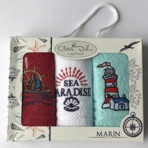 купить Набор кухонных полотенец Coton Delux Marin V2 30*50 3 шт  фото