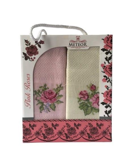 купить Набор кухонных полотенец Meteor Pink Roses 40*60 2 шт Розовый фото
