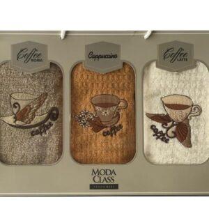 купить Набор кухонных полотенец Moda Class вафельная махра Vision Mert 40*70 3 шт  фото