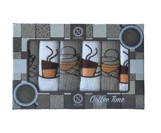 купить Набор кухонных полотенец Nilteks Coffee Time V03 40*60 6 шт  фото