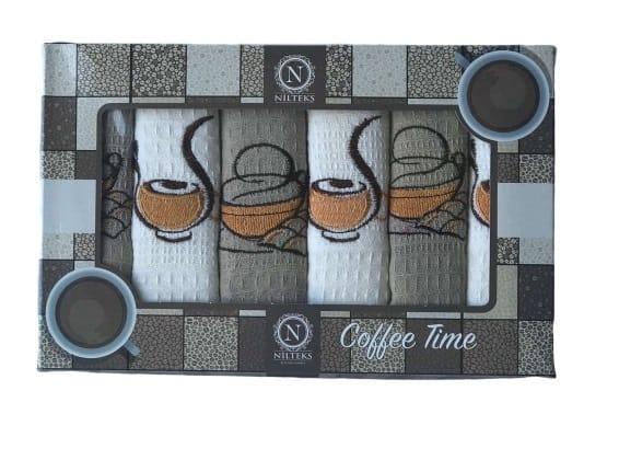 купить Набор кухонных полотенец Nilteks Coffee Time V05 40*60 6 шт  фото