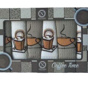 купить Набор кухонных полотенец Nilteks Coffee Time V07 40*60 6 шт  фото
