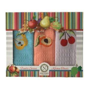 купить Набор кухонных полотенец Nilteks Fruits Series 40*60 3 шт  фото