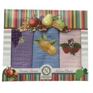 купить Набор кухонных полотенец Nilteks Fruits Series V02 40*60 3 шт  фото