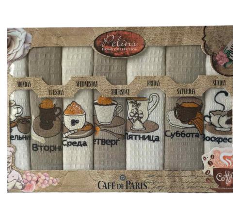 купить Набор кухонных полотенец Pelins Cofe de Paris V2 40*60 7 шт  фото