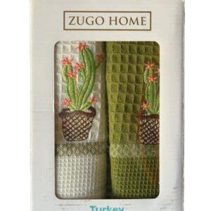 купить Набор кухонных полотенец Zugo Home Cactus V1 40*60 2 шт  фото