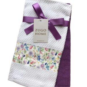 купить Набор кухонных полотенец Zugo Home Garden 40*60 2 шт Фиолетовый Фиолетовый фото