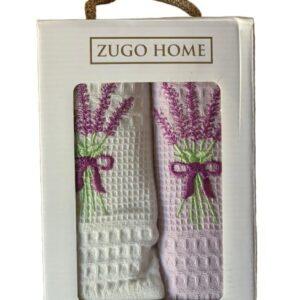 купить Набор кухонных полотенец Zugo Home Lavender V1 40*60 2 шт Сиреневый фото