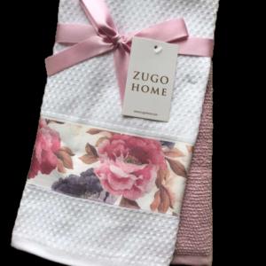 купить Набор кухонных полотенец Zugo Home Peony 40*60 2 шт Розовый Розовый фото