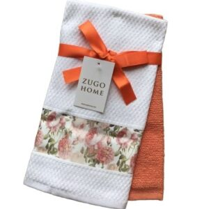 купить Набор кухонных полотенец Zugo Home Rose 40*60 2 шт Оранжевый Оранжевый фото