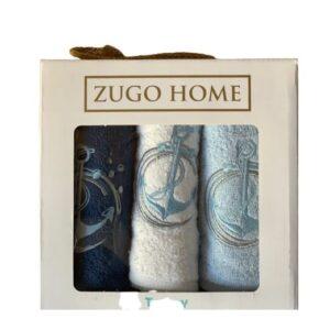 купить Набор кухонных полотенец Zugo Home Sea Anchor V1 30*50 3 шт Голубой фото