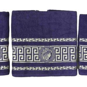 купить Набор махровых полотенец Gold Soft Life Версаче 50*90(2 шт) и 70*140 Фиолетовый Фиолетовый фото