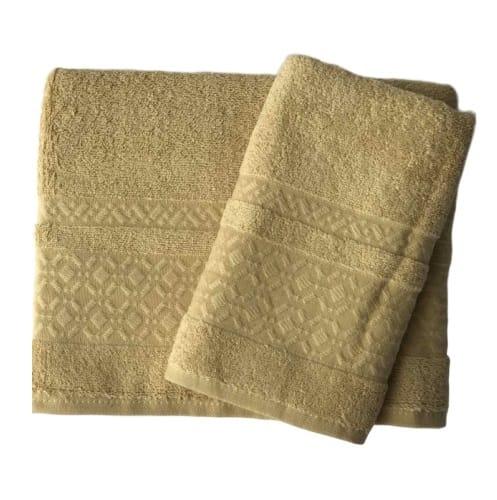 купить Набор махровых полотенец Gold Soft Life Ромб 50*90 и 70*140 Золотой Золотой фото