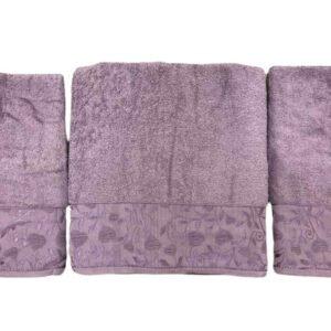 купить Набор махровых полотенец Gold Soft Life For You 50*90(2 шт) и 70*140 Фиолетовый Фиолетовый фото