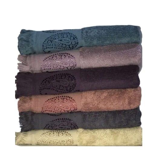 купить Набор махровых полотенец Miss Cotton жаккард Buta 70*140 6 шт  фото
