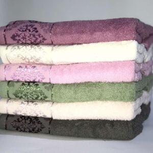купить Набор махровых полотенец Miss Cotton хлопок Damask 50*90 6 шт  фото
