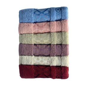 купить Набор махровых полотенец Miss Cotton хлопок Gometri 6 шт  фото