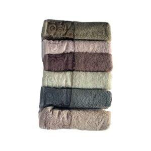 купить Набор махровых полотенец Miss Cotton хлопок Hazal 6 шт  фото