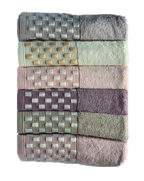 купить Набор махровых полотенец Miss Cotton Bamboo Dama 6 шт  фото