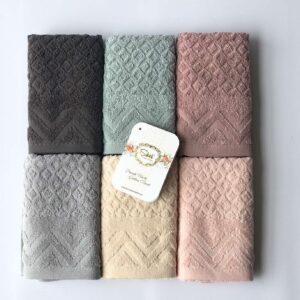купить Набор махровых полотенец Sikel жаккард Anemon 30*50 6 шт  фото