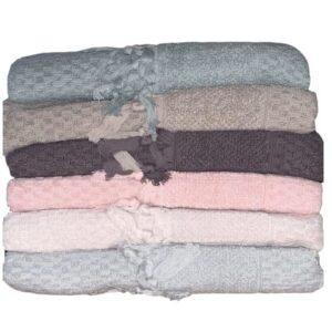 купить Набор махровых полотенец Sikel жаккард Bukle Mikanos 70*140 6 шт  фото