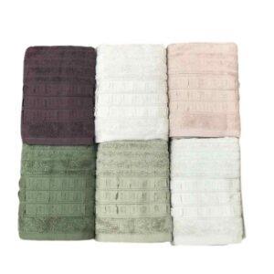 купить Набор махровых полотенец Sikel жаккард Elegan 6 шт  фото