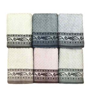 купить Набор махровых полотенец Sikel жаккард Izgu 6 шт  фото