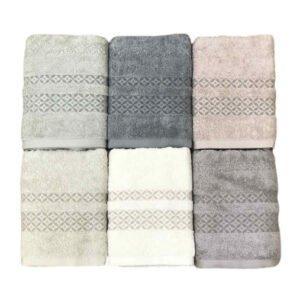 купить Набор махровых полотенец Sikel жаккард Mermer 6 шт  фото
