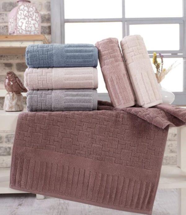 купить Набор махровых полотенец Sikel жаккард Piano 6 шт  фото