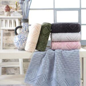 купить Набор махровых полотенец Sikel жаккард Piramit 6 шт  фото