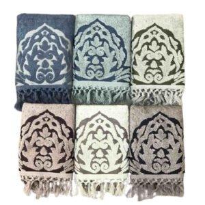купить Набор махровых полотенец Sikel жаккард Sacakli Arya 6 шт  фото