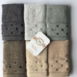купить Набор махровых полотенец Sikel жаккард Silver 30*50 6 шт  фото