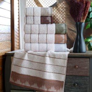 купить Набор махровых полотенец Sikel жаккард Taslama 6 шт  фото