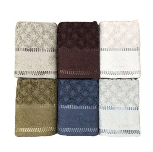 купить Набор махровых полотенец Sikel жаккард Volkan 6 шт  фото