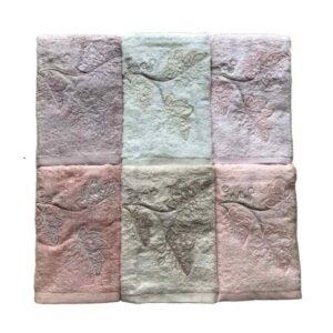 купить Набор махровых полотенец Sikel 3D Bamboo Argente 6 шт  фото