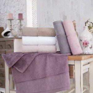 купить Набор махровых полотенец Sikel Bamboo Golge 30*50 6 шт  фото