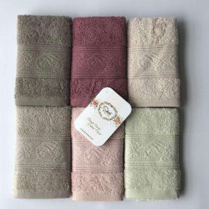 купить Набор махровых полотенец Sikel Cotton Ribella 30*50 6 шт  фото