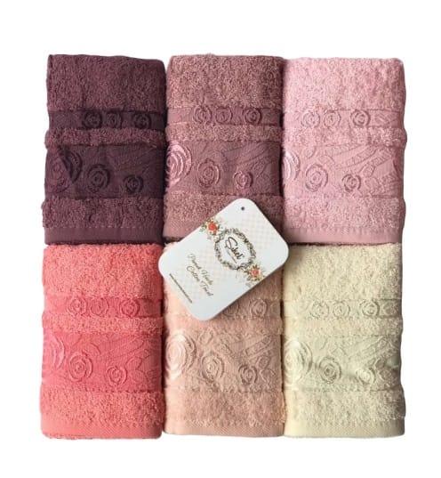 купить Набор махровых полотенец Sikel Cotton Rose Garden 6 шт  фото