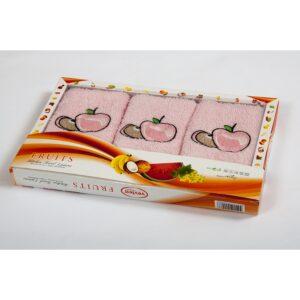купить Набор махровых полотенец Vevien - Apple Розовый фото