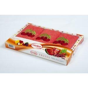 купить Набор махровых полотенец Vevien - Cherry Красный фото