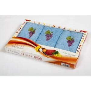 купить Набор махровых полотенец Vevien - Grapes Голубой фото