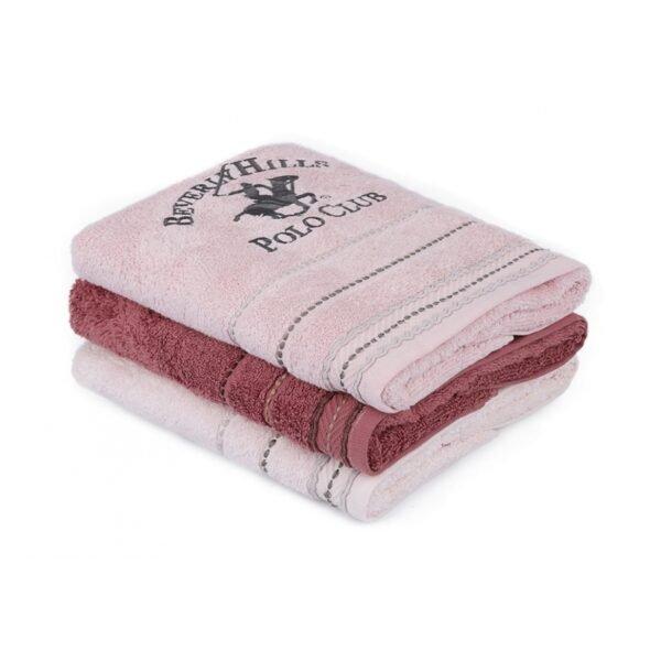 купить Набор полотенец Beverly Hills Polo Club - 355BHP2272 Розовый фото