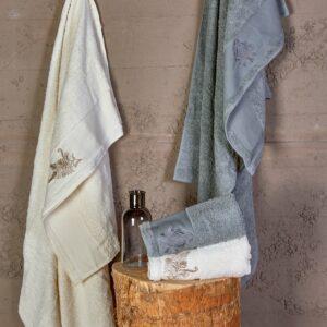купить Набор полотенец Karaca Home - Fronda Offwhite-Gri 2020-2 Серый фото